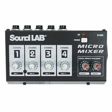 Soundlab G105C 4 Channel Mono Microphone Mixer With Effects G105C