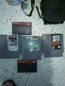 Nintendo Nes 3 Jeux + 2 Jeux Master System Sega