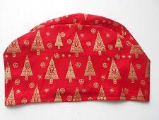 CHRISTMAS SCRUB HATS!! RED TREES!!