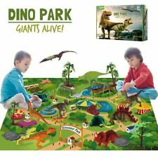 Dinosaur Toys w/ Activity Play Mat Dinosaur Figures Playset Kids,Boys,Girls Gift