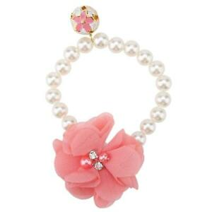 Dog Pet Pearl Flower Collar Elastic Necklace for Puppy Collar Jewelry Accessory(