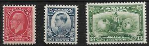 BC1285) Canada 1932 Ottawa Conference postage set SG 315-17