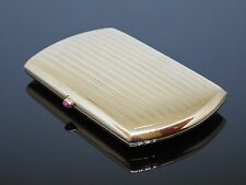 Art Deco 1930s Solid 14K Yellow Gold Ladies Cigarette Case with a 0.2CT Ruby 71g
