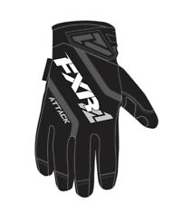 New FXR Mens Attack Insulated Snowmobile / Snow Bike Gloves, Black, Large