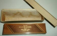 Vtg Cleveland Ohio Flux Co Famous Cornell Fluxes Hat Hand Wood Leather Brush Box