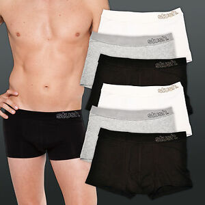 Mens Underwear 6 Pack Softband Trunks CLEARANCE Black/Grey/White - NEW