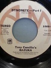 """TONI CAMILLO'S BAZUKA 45 RPM """"Dynomite Part 1"""" """"Part 2"""" VG condition"""