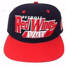 promo code 88f6e 082a8 New 28 CCM DETROIT RED WINGS SNAPBACK HAT Black Flat-Bill Hockey-Stick Men