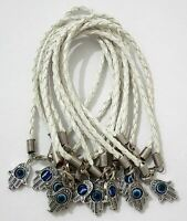 Hamsa Hand String White Evil Eye Lucky Spiritual Bracelet Success Protection