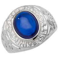 Sterling Silver Gents College Ring FULLY HALLMARKED