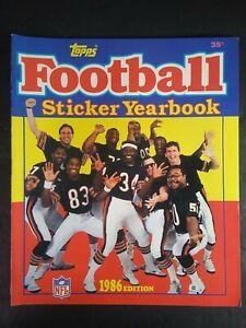 Vtg 1986 Topps NFL Sticker Book Chicago Bears Payton McMahon ~ Perry Super Bowl