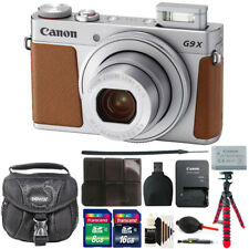 Canon Powershot G9 X Mark II Digital Camera Silver with Great Value Kit