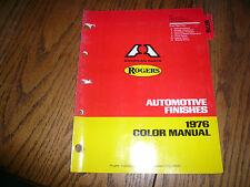 1976 Rogers Domestic Car Colors Color Chips Booklet - GM Chrysler Ford AMC VW