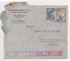 (K73-15) 1960s Argentina SALZMANCIA envelope to GB (ripped) (O)
