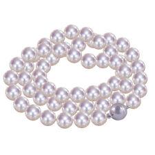 Echte Perlen-Halsketten & -Anhänger aus Weißgold mit Akoya für Damen