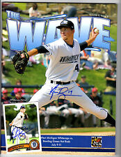 West Michigan Whitecaps Kyle Ryan signed program Detroit Tigers & rookie card