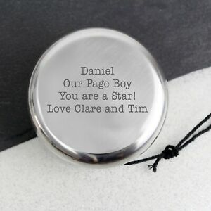 Personalised Bow Tie YOYO Thank You Gifts Ideas For Wedding Party Page Boy Usher