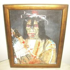 AFTER PAUL KANE OIL PAINTING 2nd  PORTRAIT OF FIRST NATION INDIAN WARRIOR