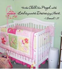 Wall Decal For This Child I have Prayed and The Lord has Granted Nursery Verse