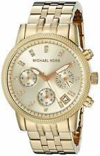 Michael Kors MK5676 Ritz Chronograph Crystal Gold Steel 37mm Women's Watch