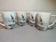 4 Corelle Mugs in Twilight Grove by Corning Discontinued