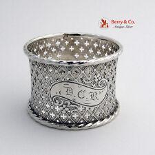 Antique Coin Silver Napkin Ring Open Work Gothic Design