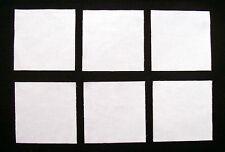 "SOLID WHITE KONA 5"" Squares, 100% cotton Prewashed,  Quilt Block Fabric (#B/39)"