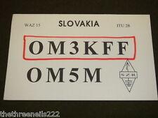 QSL RADIO CARD - OM3KFF - SLOVAKIA - 1993