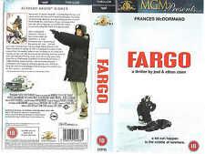 FARGO VHS PAL FRANCES McDORMAND,WILLIAM H.MACY,STEVE BUSCEMI,COEN BROTHERS NEW