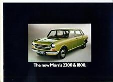 MORRIS 2200 & 1800 SALES BROCHURE 1972 1973
