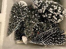 Thomas Kinkade Christmas Hawthorne Village - Snow Covered Pine Trees