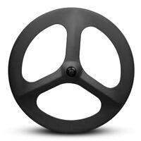70mm Carbon Fiber Tri Spoke Wheelset Road Bike 3 spokes Carbon Front Wheels
