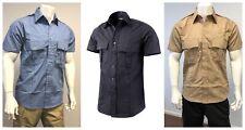 Mens Tactical Army Style Security Police Uniform Short Sleeve Shirt - Sz S -2XL