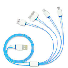 1M 4 in 1 USB Charger Cable for iPhone 7 Plus/6S/5/4 Samsung 2.0 Sony Multi Plug