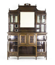 Antique Display Cabinet | Victorian Mirror Back Cabinet | Scotland, 1870 | B693