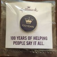 Hallmark Gold Crown 100 Years Anniversary Pin - Employee Associate Special