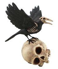 TD2298 Bethany Lowe Haunted Dead Zombie Raven On Skull Halloween Figurine Spooky