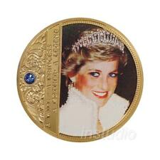 Princess Diana Embossed Color Commemorative Coin Collection Craft Gift