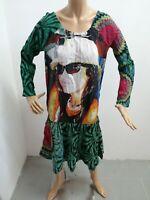Vestito DESIGUAL donna taglia size 40 woman vestitino viscosa P 6148