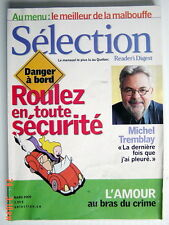 SÉLECTION DU READER'S DIGEST DE MARS 2005, EN COUVERTURE MICHEL TREMBLAY