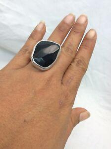 Beautiful Chan Luu Modernist  sterling 925 Black Stone Adjustable ring size 6.5