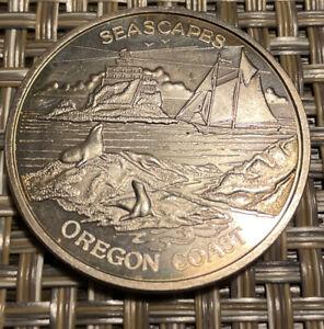 Oregon Coast Seascapes 1oz .999 Fine Silver Round