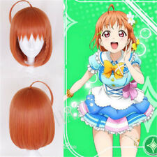 Anime Love Live!! Aqours Takami Chika Cosplay wig Short Orange Straight Hair FRR
