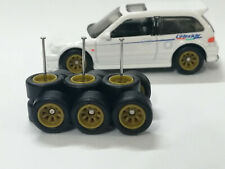 Hot Wheels 1/64 Rubber Wheels Real Riders > Watanabe > Yellow > 10mm > 3 sets
