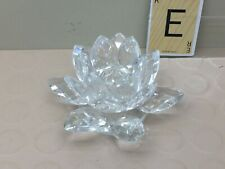 Crystal Candle holder. Water Lily
