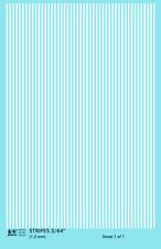 K4 HO Decals White 3/64 Inch Stripes Set