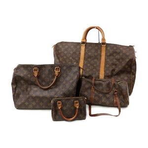 Louis Vuitton Monogram Hand Bag 4pc set Keepall 50 Speedy 35/Mini 521672