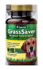 NaturVet GrassSaver Lawn Spot Prevention Supplement for Dogs, 250 Chewable Table