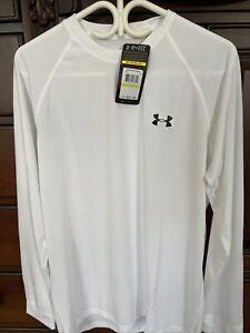 NWT Men's Under Armour Heat Gear Loose Long Sleeve White Size Medium