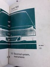 SAAB 900 1995 OEM Factory Service Manual - Section 3.5 Electrical, Instruments